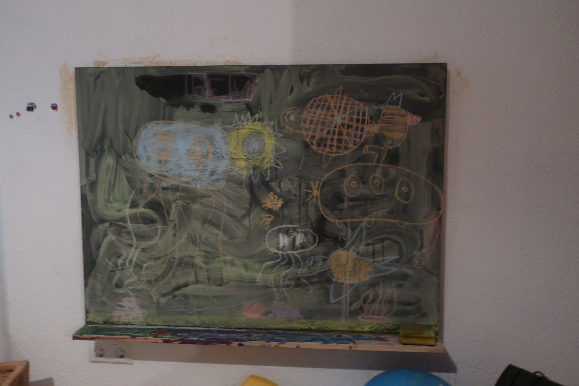 Tafel mit Kreidebild